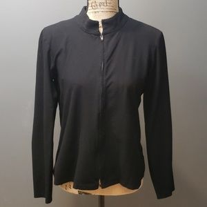 Eileen Fisher black zip up medium